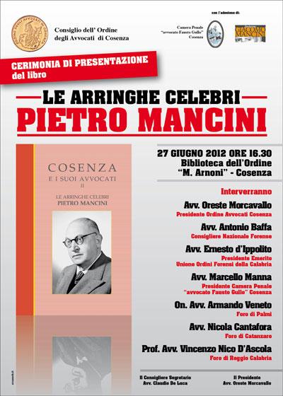 """Domani presentazione del libro """"Le arringhe celebri  Pietro Mancini ... 95946c24ea30"""
