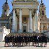 Il Cosenza davanti la basilica di Superga
