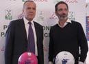 Il Presidente Balata con i nuovi palloni