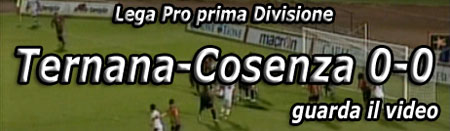 Video:Ternana-Cosenza 0-0